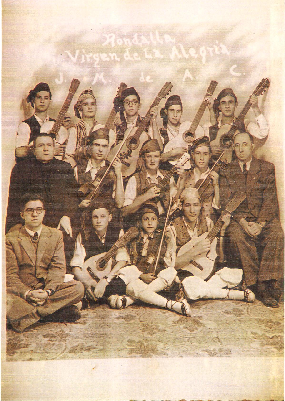 Rondalla Ntra. Señora de la Alegría, 1942